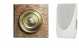 Byron Wireless Doorbell Kit 201 with Period Style Bell Push