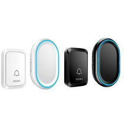 Cacazi Wireless Doorbell Led Night Light Home Wireless 300M