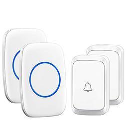 Wireless Doorbell, CACAZI A60 Waterproof Door Chime Kit Oper