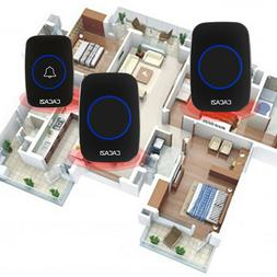 Wireless Doorbell ,Mini Waterpoof Door Bell Kit Transmitter+