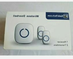 SadoTech Wireless Doorbell, Model CXR, 2 Receivers, 1 Transm