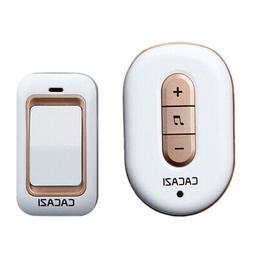 Cacazi Wireless Doorbell No Battery Need Waterproof Smart Do