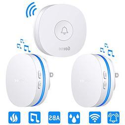Wireless Doorbell, Govee IP66 Waterproof Door Bell Chime Kit