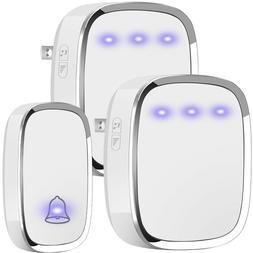 wireless doorbell plug and play waterproof door