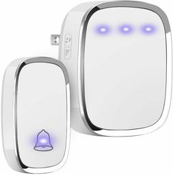 Wireless Doorbell, Plug and Play Waterproof Door Bell Kit 10