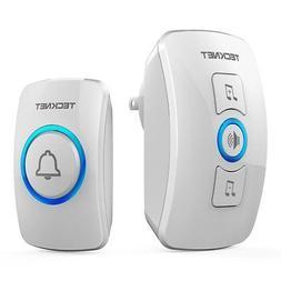 Wireless Doorbell, TeckNet Remote Waterproof Plug in Wireles