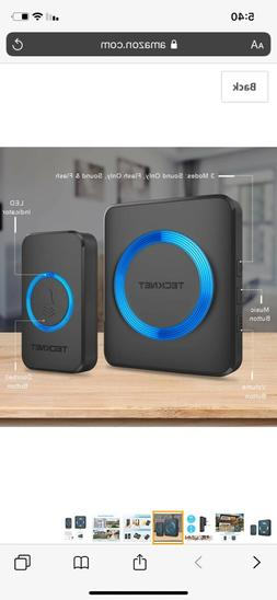 Wireless Doorbell, TeckNet Plug-in Cordless Door Chime Kit