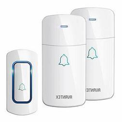 Wireless Doorbell AVANTEK Waterpoof Door Bell Chime Operatin