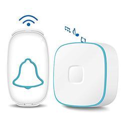 Wireless Doorbell Waterproof Chime Kit Operating at 500 Feet