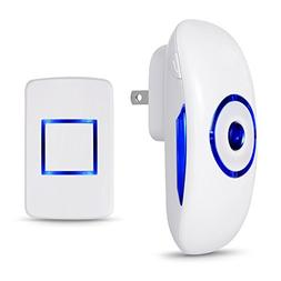 Adoric Life Wireless Doorbell Waterproof Door Bell Kit, 1000
