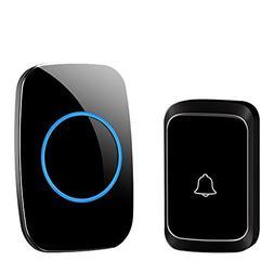 CACAZI Wireless Doorbell Waterproof Door Bell Kit, 1000 Feet