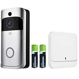 Wireless Video Doorbell-Onlyee WiFi IP 65 Waterproof Doorbel
