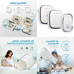 Bodyguard Wireless Doorbell with 1 Remote 1 Transmitter + 2