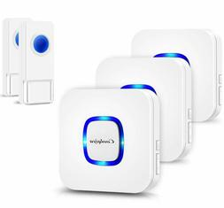 Coolqiya Wireless Doorbell With 2 Remote Button And 3 Plugin