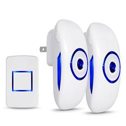Adoric Life Wireless Doorbell for Home Office with 2 Plug-In