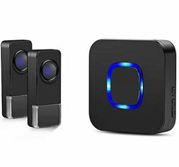 Coolqiya Wireless Doorbells Chimes Kit for Home with 2 Remot