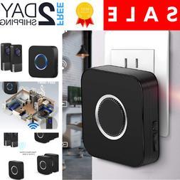 Wireless Doorbells Chimes Kit with 2 Remote Waterproof Plug