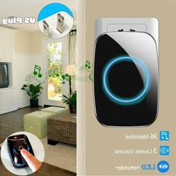 Wireless Music Doorbell Waterproof Loud Chime LED Flash US P