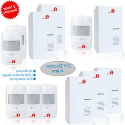 1byone Wireless PIR Motion Sensor Doorbell 36 Chimes Drivewa