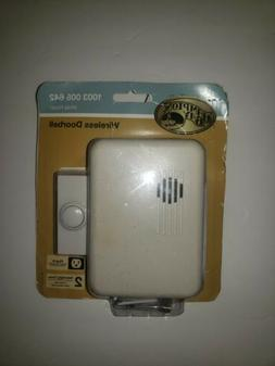 Hampton Bay Wireless Plug-In Door Bell Kit with 1-Push Butto