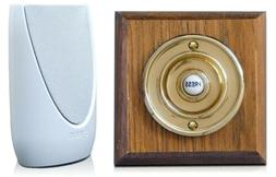 Byron Wireless Portable Doorbell Kit, Period Style Bell Push