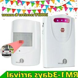 1byone Wireless Security Driveway Alarm System Outdoor Alert