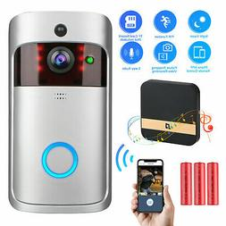 Wireless Smart WiFi DoorBell IR Video Visual Ring Camera wit