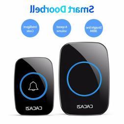 Wireless Waterproof Doorbell 38 Chime Plug in Receiver Adjus