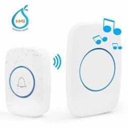 Wireless Waterproof Doorbell Cordless Loud Chimes Door Bell