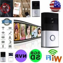 Wireless Wifi Doorbell Kit with Camera 8GB SD Card Record NV