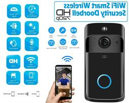 Wireless WiFi DoorBell Smart Video Phone Door Visual Ring In