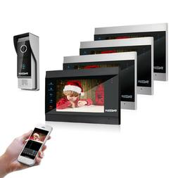 "TMEZON Wifi  Video Door Phone Intercom Entry System IP 7"" Mo"