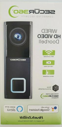 zenith secur 360 wired hd video doorbell